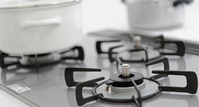 たくさんの調理が可能な3口ガスコンロ